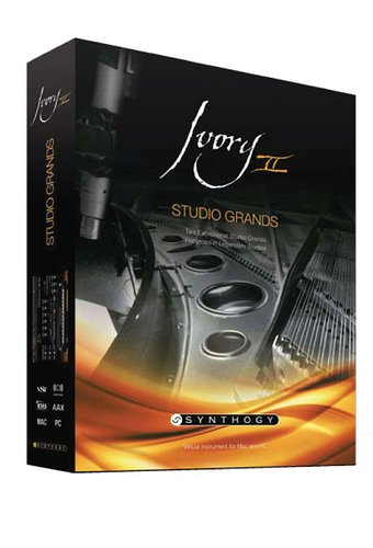 Synthogy Ivory II Studio Grands [BOXED VERSION] Virtual Piano Software IVORY2-STUDIO-GRANDS