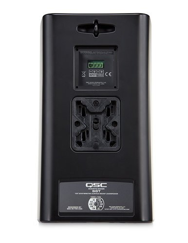 """QSC AD-S6T-BLACK 6.5"""" 2-Way AcousticDesign Surface Mount Speaker, in Black AD-S6T-BLACK"""