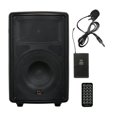 "Galaxy Audio TQ8-40V0N Battery-Powered Portable Sound System with 8"" Speaker & Wireless Lavalier Mic, 521.850MHz TQ8-40V0N"
