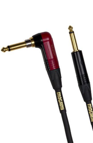 Mogami GOLD-INST-SILENT-R25  25ft Silent Instrument Cable with Straight and Right Angle Connectors GOLD-INST-SILENT-R25
