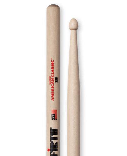 Vic Firth 2B 1 Pair of American Classic 2B Drumsticks with Wood Tear Drop Tip 2B