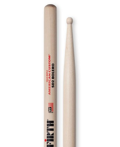 Vic Firth American Custom SD2 Bolero Pair of Light Jazz Drumsticks SD2-VF