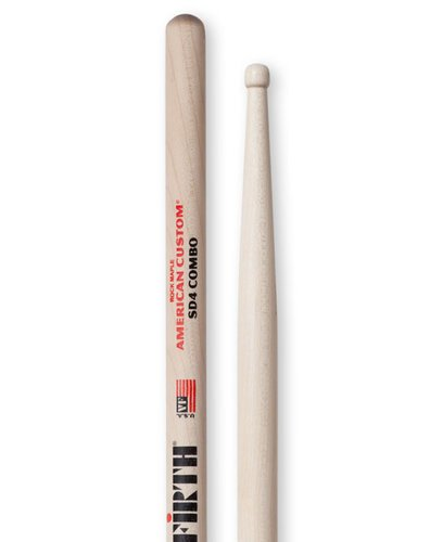Vic Firth American Custom SD4 Combo Pair of Jazz Drumsticks SD4