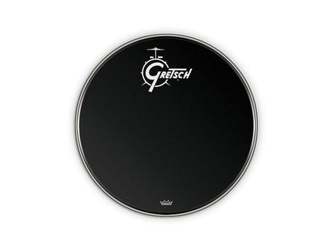 """Gretsch Drums G5526EB 22"""" Gretsch Logo Ebony Resonant Bass Drum Head G5526EB"""