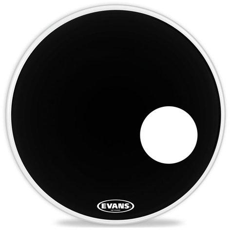 "Evans BD24RB 24"" EQ3 Resonant Bass Drum Head in Black BD24RB"