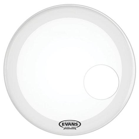 "Evans BD20RGCW 20"" EQ3 Coated Resonant Bass Drum Head in White BD20RGCW"