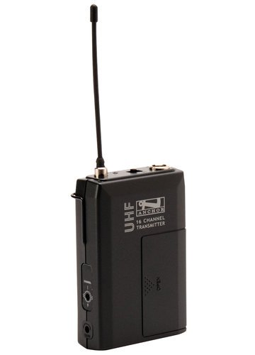 Anchor WB-8000 16-Channel Wireless UHF Bodypack Transmitter for 8000 Series Systems, 540-570 MHz WB-8000
