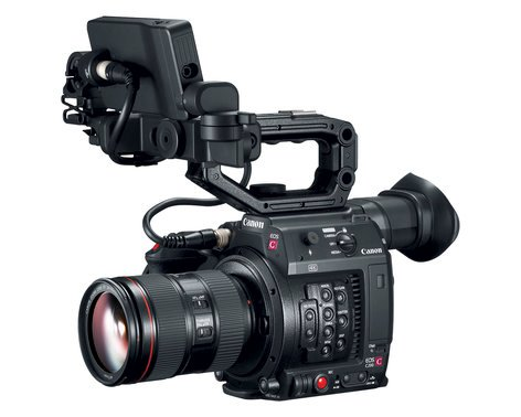 Canon EOS C200 8.85MP 4K RAW Digital Cinema Production Camera Body with LCD Monitor & Handgrip EOS-C200