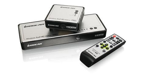 IOGEAR GWHDMS52MB  Long Range Wireless 5x2 HDMI Matrix PRO  GWHDMS52MB