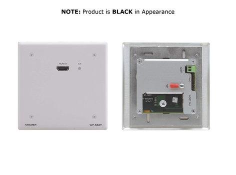 Kramer WP-580T-BLACK Black Wall Plate, HDMI over HDBaseT Transmitter WP-580T-BLACK