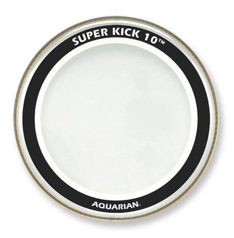 "Aquarian Drumheads SK10-22 22"" Super-Kick 10 Two-Ply Clear Bass Drum Head SK10-22"
