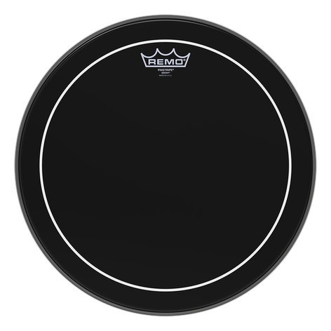 "Remo ES-0614-PS 14"" Ebony Pinstripe Batter Drum Head ES-0614-PS"