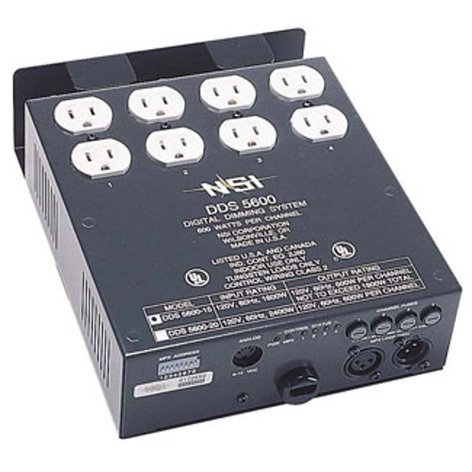 Leviton N5600-D20 4-Channel 600W/CH Dimmer/Relay System with DMX Installed, 20 A Power Supply Cord N5600-D20