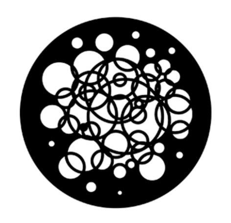 Rosco Laboratories 77583  Circles Steel Gobo 77583