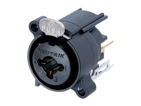 "Neutrik NCJ6FA-V  Combo XLR-F to 1/4"" Stereo Jack with Vertical PCB Mount NCJ6FA-V"
