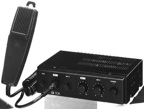 TOA CA160 Mixer / Amplifier, 60W, 12V, with Microphone CA160