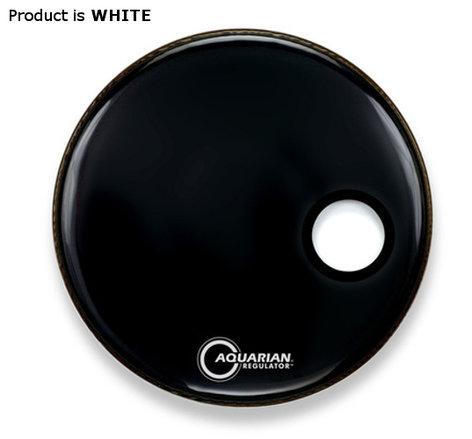 "Aquarian Drumheads RSM22BK 22"" Regulator Series Resonant Bass Drum Head in White RSM22BK"