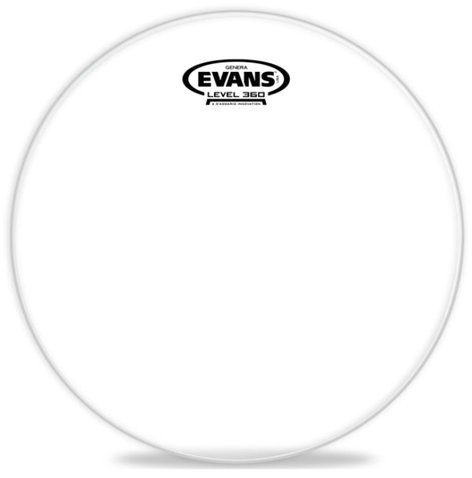 "Evans TT12GR 12"" Genera Clear Resonant Drum Head TT12GR"