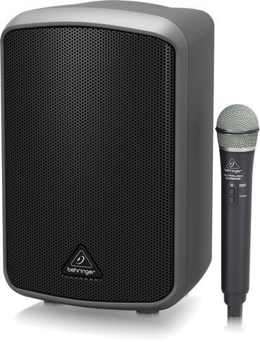 Behringer MPA100BT All-in-One Portable 100W Speaker with Wireless Microphone and Bluetooth Connectivity MPA100BT