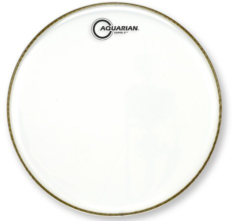 "Aquarian Drumheads S-2-12 12"" Super-2 Two-Ply Clear Drum Head S-2-12"
