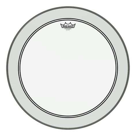 "Remo P3-1324-BP 24"" Powerstroke 3 Clear Bass Drum Head P3-1324-BP"