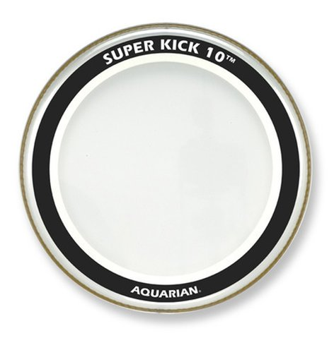 "Aquarian Drumheads SK10-24 24"" SuperKick 10 Two-Ply Clear Bass Drum Head SK10-24"