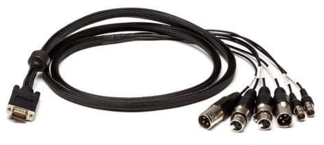 Lynx Studio Technology CBL-ESYNC  Digital I/O and Sync Cable for E44. (4) XLR + (2) BNC to HD15 CBL-ESYNC
