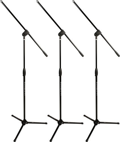 Ultimate Support MC-40B Pro 3-Pack (3) Classic Series Microphone Stands, Each with 3-Way Adjustable Boom Arm MC40B-PRO-3