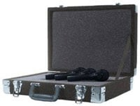Grundorf Corp MCB (Black) Foam-Lined Microphone Briefcase (Black) MCB-BLACK