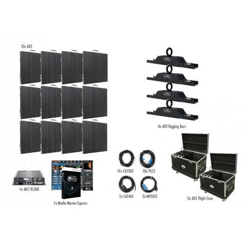 ADJ AV3 4x3 12 Panel 4x3 AV3 Video Wall Package AV3-4X3