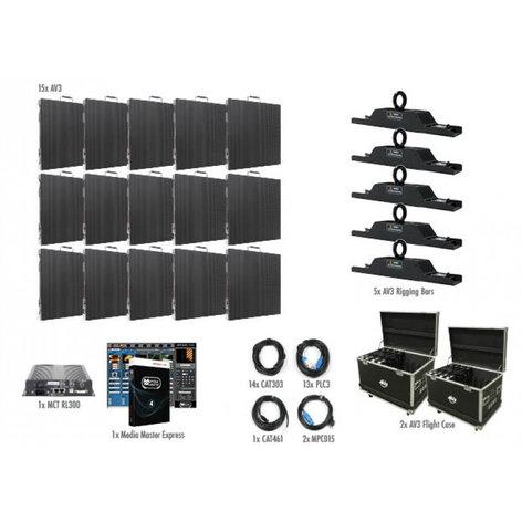 ADJ AV3 5x3 15 Panel 5x3 AV3 Video Wall Package AV3-5X3