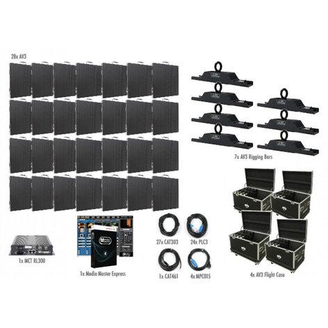 ADJ AV3 7x4 28 Panel 7x4 AV3 Video Wall Package AV3-7X4