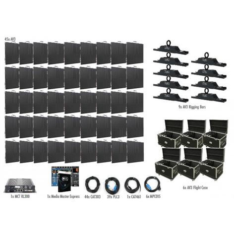 ADJ AV3-9X5  45 Panel 9x5 AV3 Video Wall Package AV3-9X5