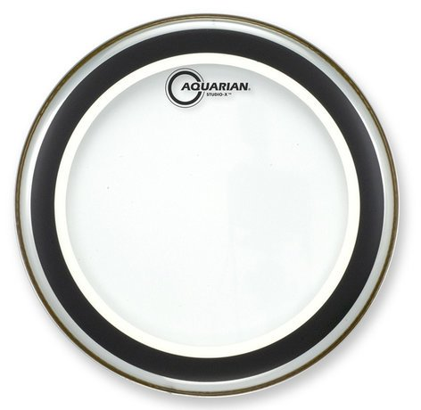 "Aquarian Drumheads SX24 24"" Studio-X Clear Bass Drum Head SX24"