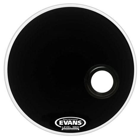 "Evans EMAD 20"" Black Resonant Bass Drum Head BD20REMAD"