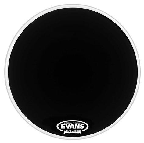 "Evans EQ1 22"" Resonant Bass Drum Head in Black BD22RA"