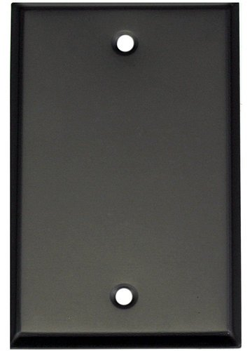 "Whirlwind WP1B/0H Blank Single Gang Wall Plate in 0.04"" Black Aluminum WP1B/0H"