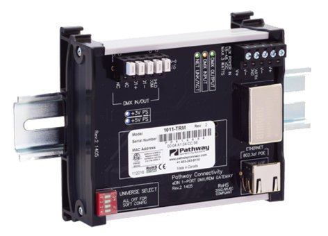 Pathway Connectivity 1011-TRM Single Port DIN-Mountable Pathport Gateway with Terminal Block Connectors P1011