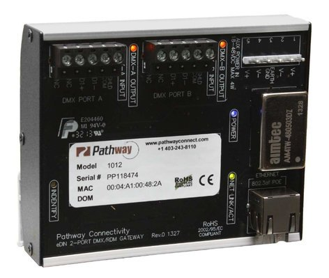 Pathway Connectivity 1012-TRM Two Port DIN-Mountable Pathport Gateway with Terminal Block Connectors P1012