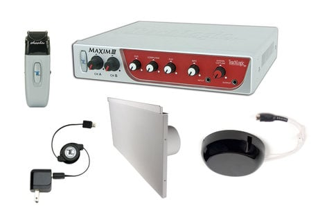 TeachLogic IRM-5150 (LS-4) Maxim III System, with Receiver/Mixer/Amp, IR Wireless Mic & 4 Lay-In Speakers IRM-5150-LS-4