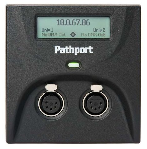 Pathway Connectivity P6201 Pathport C-Series Gateway with Two DMX XLR5-M Inputs P6201
