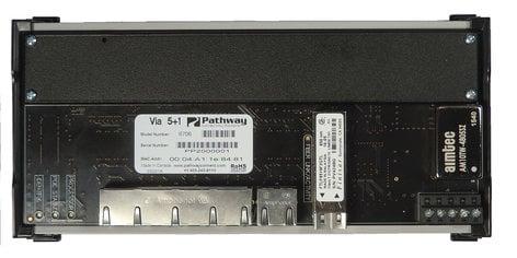 Pathway Connectivity P6705 Pathport VIA 5 DIN-Mountable Gigabit Ethernet Switch - No Fiber P6705