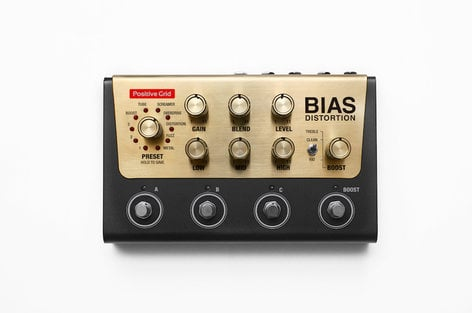 Positive Grid BIAS Distortion Distortion Pedal with Pedal Software BIAS-DISTORTION
