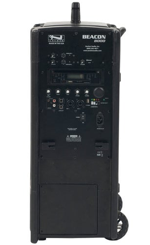 Anchor BEA-8000CU2 Beacon 8000 [RESTOCK ITEM] Portable Line Array System with (2) UHF Wireless Receivers, Onboard CD/MP3 Combo Player and Bluetooth Connectivity BEA-8000CU2-RST-01