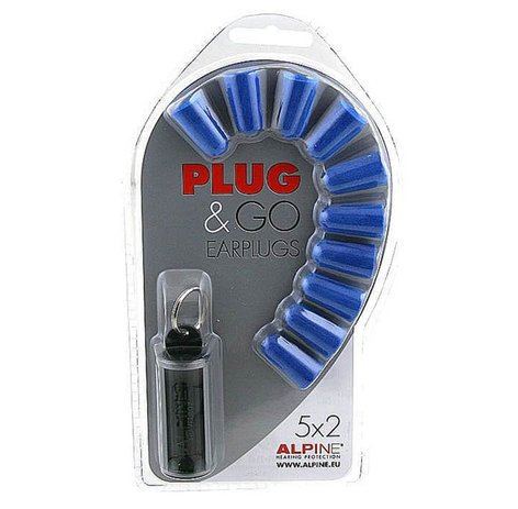 Alpine Hearing Protection Plug&Go 5-Pair Pack of Basic Noise-Cancelling Disposable Ear Plugs PLUGNGO