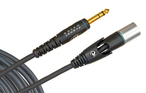 Planet Waves PW-GM-25 25' Custom Series Microphone Cable - XLR Female to 1/4 Inch PW-GM-25