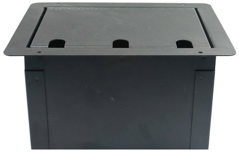 Elite Core Audio FBL-BLANK  Large Recessed Floor Box with Blank Plate FBL-BLANK