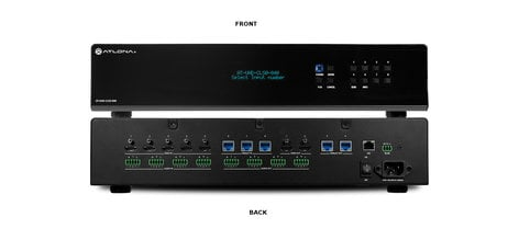 Atlona Technologies AT-UHD-CLSO-840  4K/UHD 8×4 HDBaseT and HDMI Matrix Switcher with PoE  AT-UHD-CLSO-840