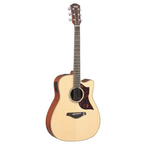 Yamaha A3M Vintage Natural Cutaway Acoustic-Electric Guitar with Hard Bag A3M-VN