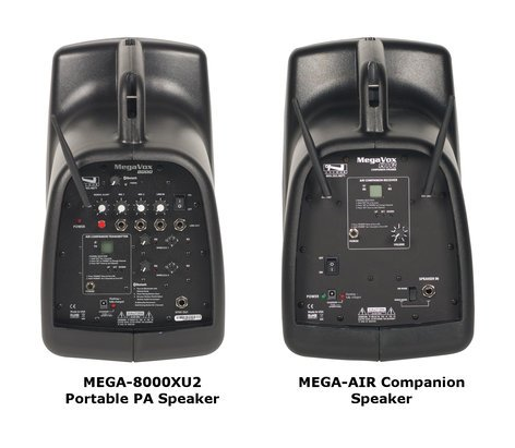 Anchor MegaVox Pro Deluxe AIR Package Dual Portable PA Package with Companion Speaker and 2 BP-8000 Transmitters MEGADPDUALAIR-WB8000